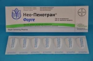 Фармакологическое действие свечей Нео-Пенотран форте