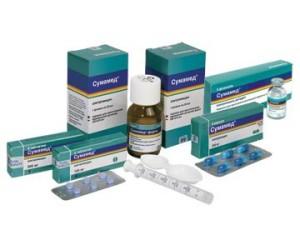Действующее вещество Сумамеда и воздействие его на подавление бактерий