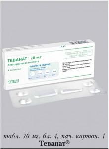 Фармакологическое действие препарата Теванат