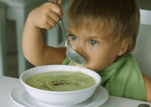 Протертый суп для больного ребенка