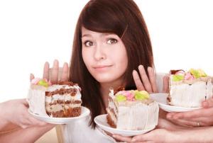 Во время лечения следует отказаться от сладкого