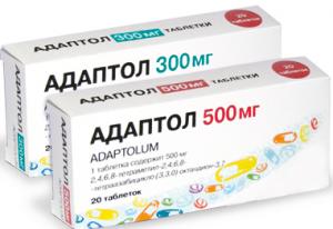 Адаптол в таблетках