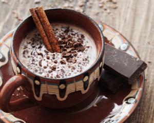 Какао с натуральным шоколадом