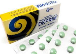 Деприм в таблетках