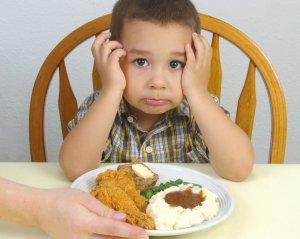 Детский рацион питания при заболевании