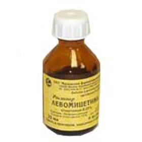 Где и когда используется раствор Левомицетина