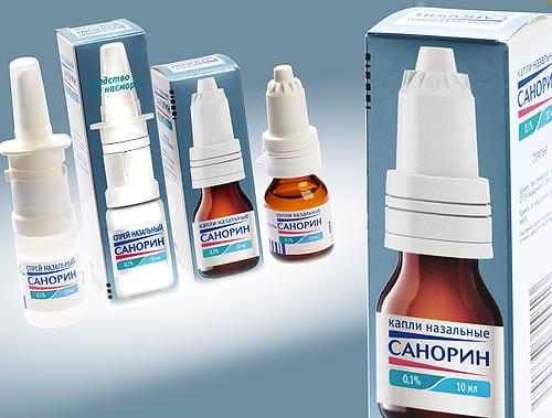 Капли санорин — состав, применение