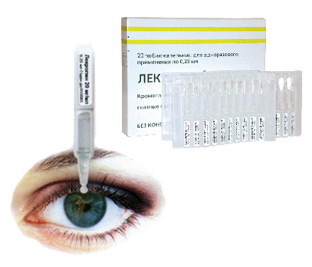Глазные капли Лекролин – спасаемся от аллергических заболеваний органов зрения