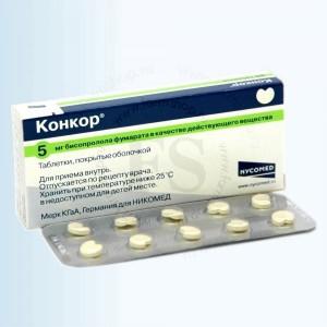 Конкор предназначен для того чтобы снижать артериальное давление.