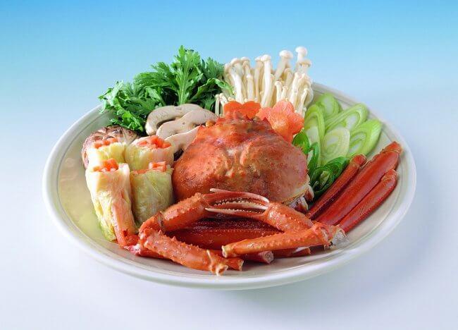 Морепродукты с зеленью