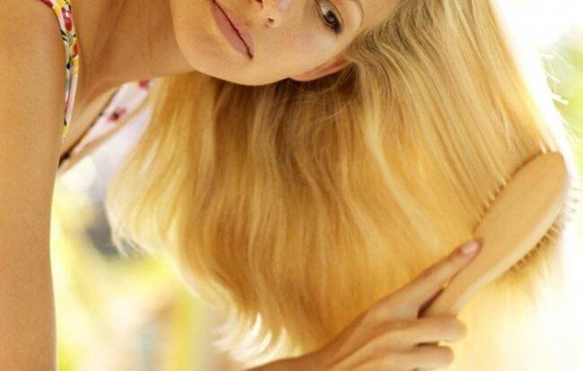 Золотистый оттенок волос