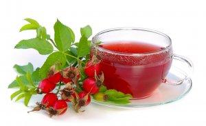 Лечебный чай из шиповника