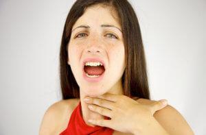 Выделение мокроты при отхаркивании